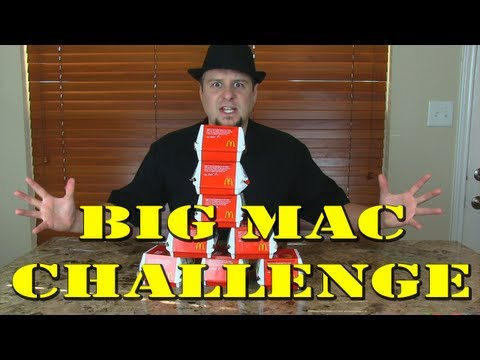 McDonald's Big Mac Challenge - How many can you eat under 10 minutes?