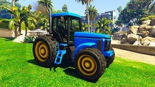 Мультики про Синий трактор Все серии подряд Синий трактор едет песенки для детей