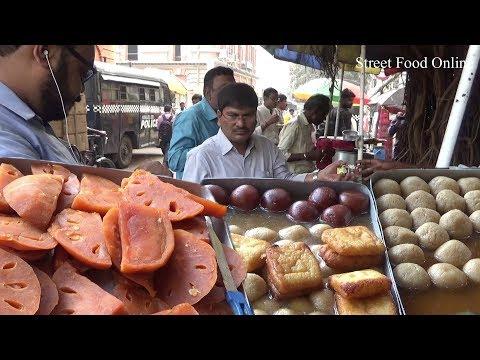 Misti Sweet in Kolkata Street   Tasty Delicious Street Dessert Selling   Street Food Online