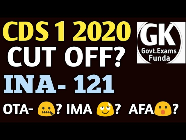 CDS 1 2020 CUT OFF | OTA/IMA/INA/AFA | what to do after clearing CDS written exam?