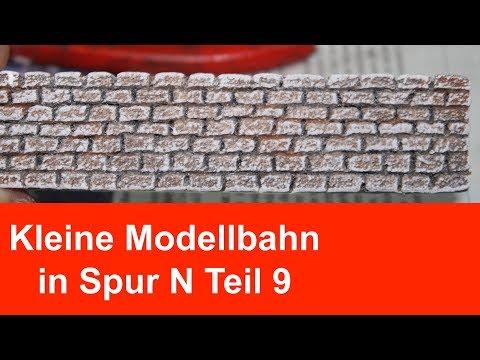 # Modellbahn Mauer aus Styrodur selber bauen # Leichte Alternative zu Gipsmauern aus Silikonformen