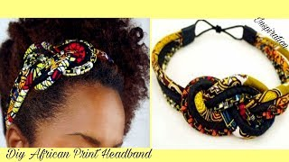 DIY Sailor Knot African Print Ropes Headband-Ankara
