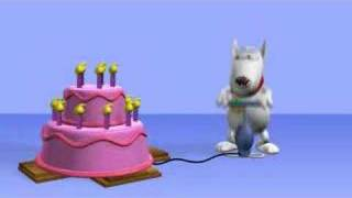 YouTube e-card Blowup birthday cake  Happy Birthday Video Card