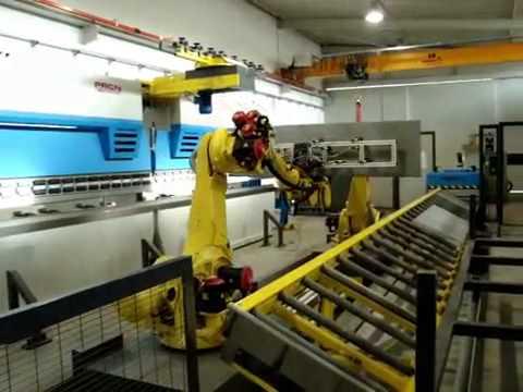 Prasy krawędziowe RICO - tandem z robotami Fanuc - zdjęcie