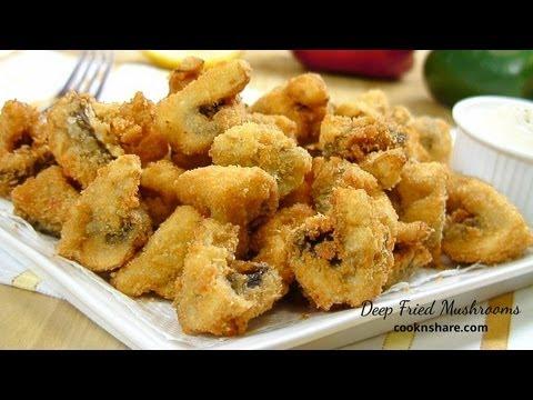 Video Deep Fried Mushrooms