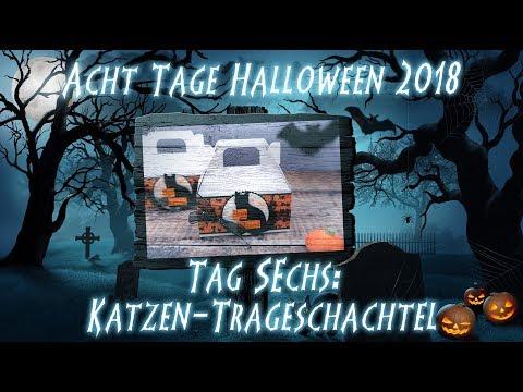 Acht Tage Halloween - Tag 6 - Katzen-Tragetasche, kreativ mit Stampin' Up!