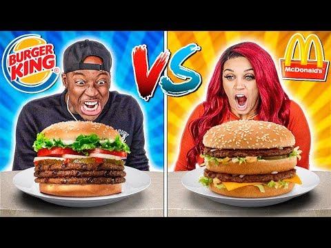 MCDONALDS VS BURGER KING FOOD CHALLENGE