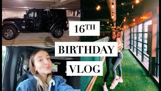 16th BIRTHDAY VLOG || Gifts, Birthday Party + Grwm, License