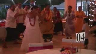 preview picture of video 'Mr and Mrs Lale Wedding Siva Samoa 30.10.12 (Brides Siva)'