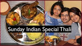 Sunday Special Thali For Father's Day | Special Indian  Lunch Routine | Simple Living Wise Thinking