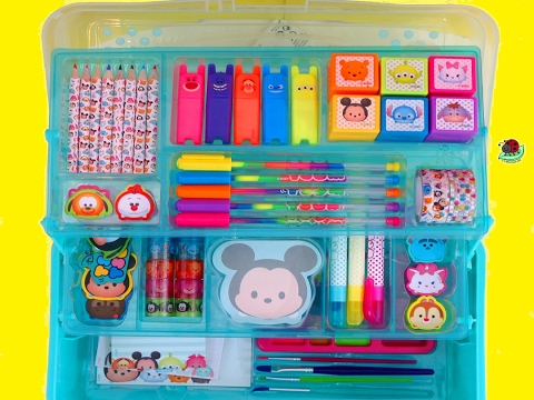 KIDS ART SET   Disney Tsum Tsum Deluxe Art Set: Creative Activity For Kids   itsplaytime612