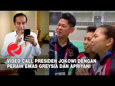 Momen Mengharukan! Presiden Jokowi Video Call dengan Peraih Emas Greysia Polii dan Apriyani Rahayu