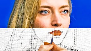 REALISTIC PAINTINGS || 25 EASY DRAWING AND PAINTING HACKS