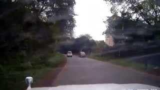 preview picture of video 'Car flying off road between Runda turnoff & Village Market'