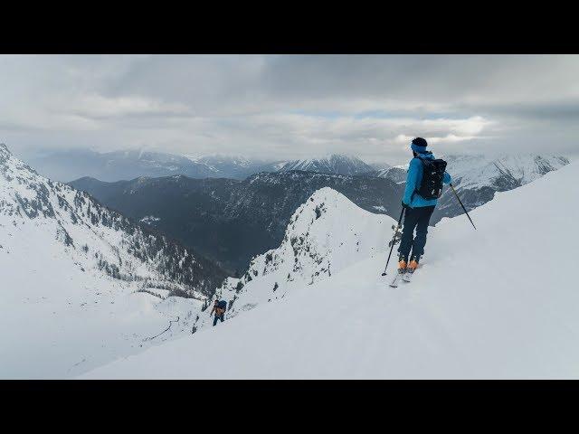 Ski Touring High Above Chamonix