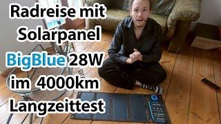 BigBlue 28W Solarpanel im Langzeittest nach 4000 km Fahrradtour