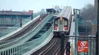 preview picture of video 'IRT Livonia Ave Line: R142A 4 Train at Pennsylvania Ave-Livonia Ave (Weekend)'