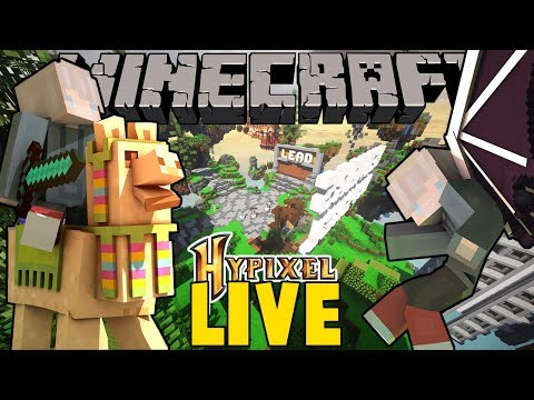 MINIGAMES LIVESTREAM! Playing HYPIXEL SkyWars/Bedwars with viewers