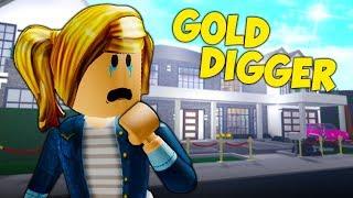 The Sad Secret of A Roblox Gold Digger (A Sad Roblox Bloxburg Movie)