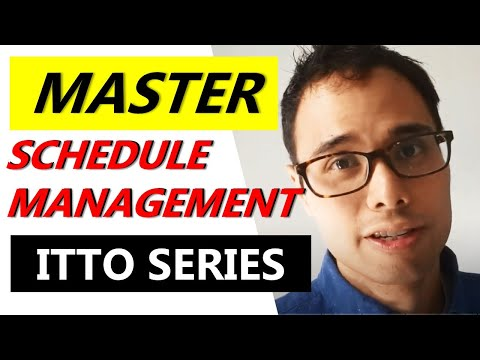 MASTER ITTOs for SCHEDULE MANAGEMENT PART 1 | CAPM ...