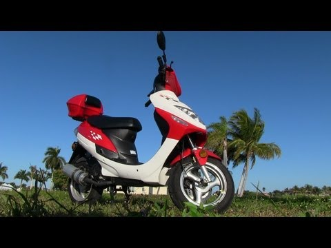 Jinlun JL50QT-5 Inexpensive Chinese Scooter 0-16 MPH Ride and Review