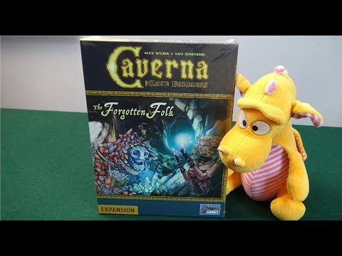 Caverna: The Forgotten Folk - Unboxing and Preview