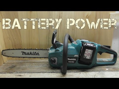 Makita Brushless 36v (18v x2) battery chainsaw DUC353 / XCU03 Review