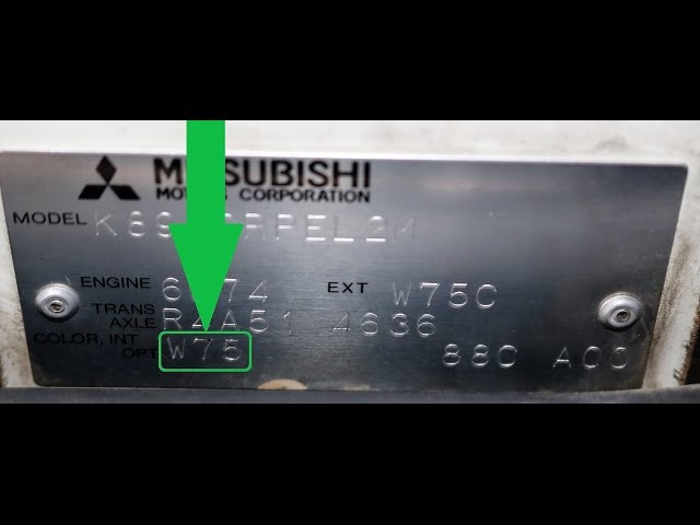 How to Find Your MITSUBISHI Paint Code