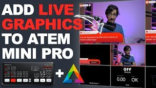 How to add LIVE GRAPHICS to your ATEM Mini PRO