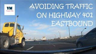 Avoiding Traffic on Highway 401 Eastbound