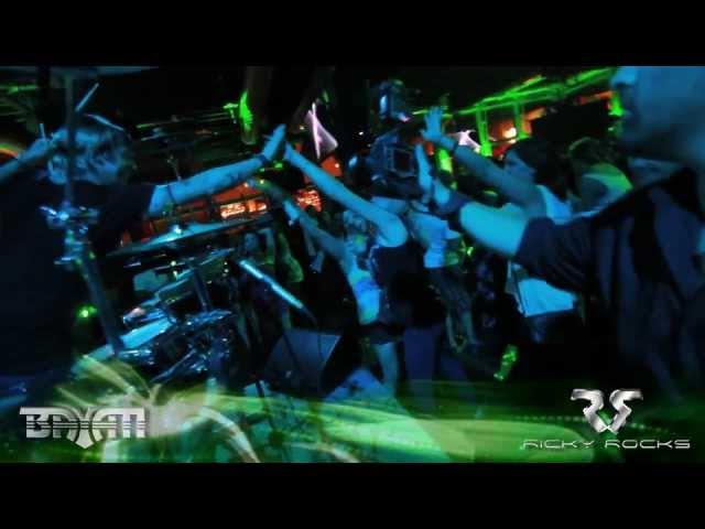 RICKY ROCKS ON DRUMS w/DJ BAYATI *JAMESON BARTENDERS BALL 2012*