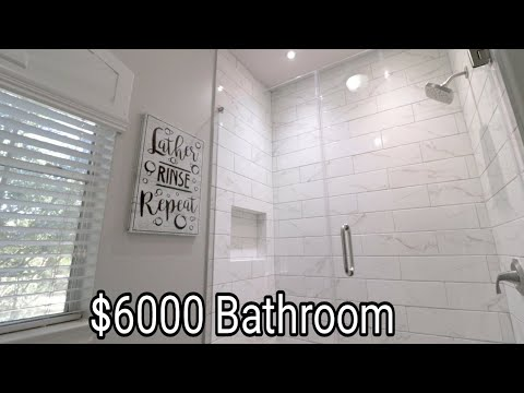 $6000 Tub To Standing Shower Subway Tile Bathroom Remodel