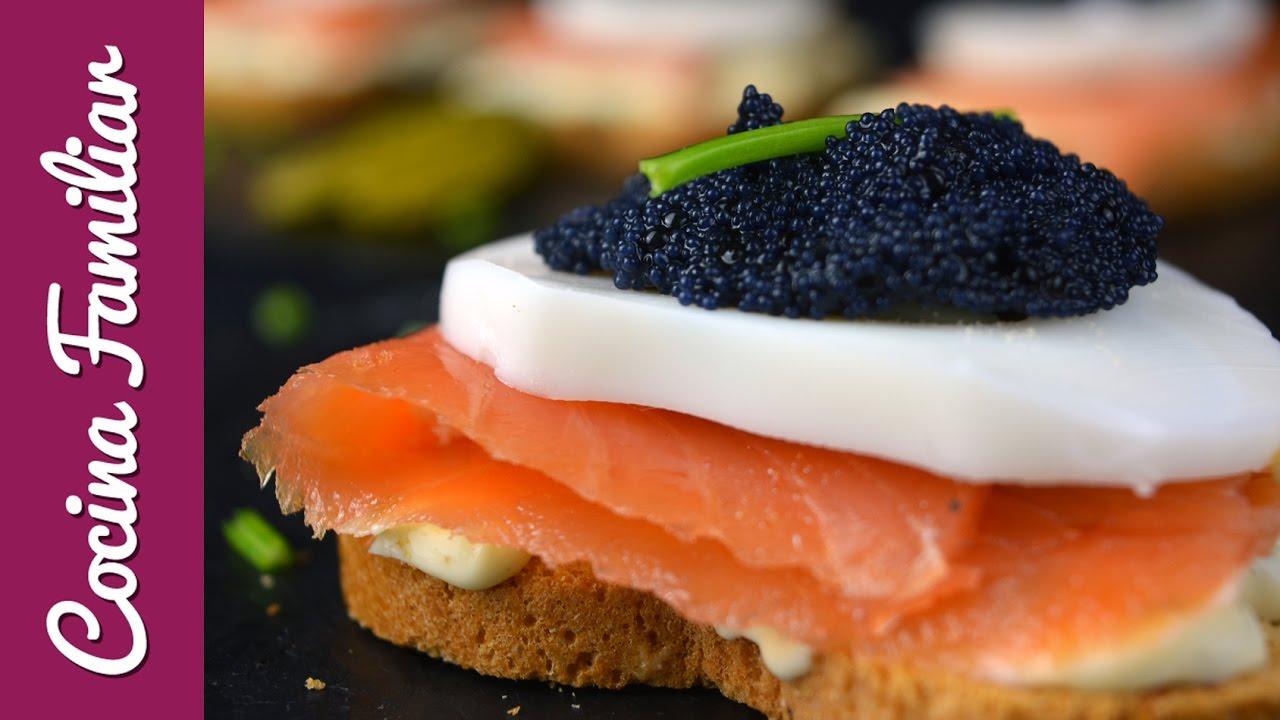 Tostas de salmón con salsa tártara | Javier Romero