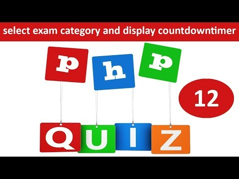 select exam category and display countdowntimer in online quiz