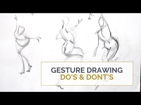 GESTURE DRAWING DO's and DON'Ts; Stop doing this and focus on the right things instead