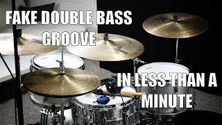 Fake Double Bass Groove In Less Than A Minute   Daily Drum Lesson