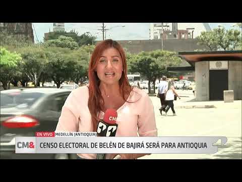 Censo electoral de Belen de Bajira sera para Antioquia