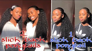 2 Quick & Easy Hairstyle To Do With Curly Bundles