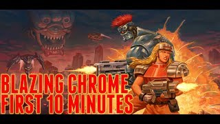 Blazing Chrome PC Gameplay - First Stage No Deaths [60fps]