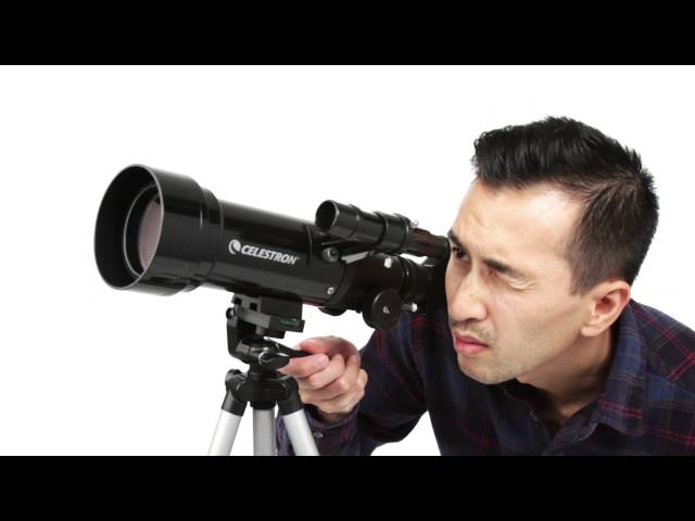 Celestron Travel Scope 50 Portable Refractor w/ Tripod and Case - 21038