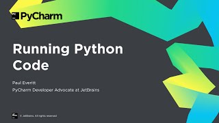 Getting Started with PyCharm 3/8: Running Python Code