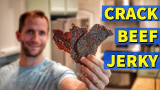 CRACK BEEF JERKY🥩The Most MIND BLOWING Beef Jerky Recipe!🤯🏆