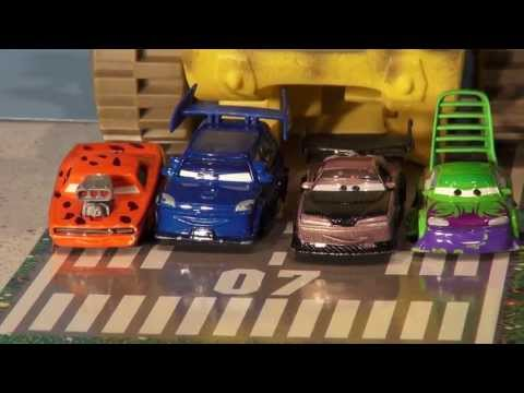 Disney Pixar Cars Lightning McQueen, Screaming Banshee And The Delinquent Road Hazards Re En-actment