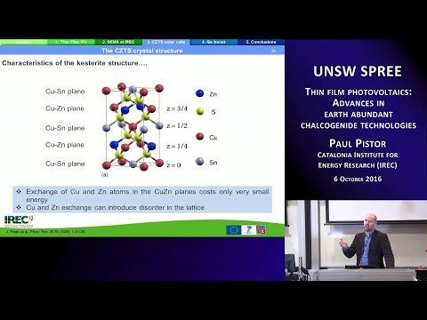 UNSW SPREE 201610-06. Paul Pistor - Fotovoltaica de película delgada: avances en tecnologías de calcogenuro