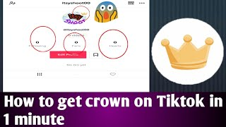 Gambar cover How to get crown on Tiktok in 1 minute