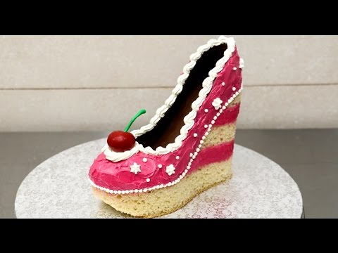 Video Shoe Cake Idea - How To Make / Torta Zapato by CakesStepbyStep