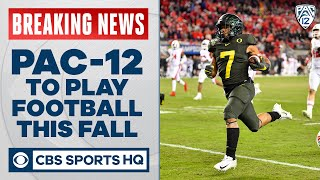 Pac-12 votes to play college football this fall: Seven-game, conference-only season | CBS Sports HQ