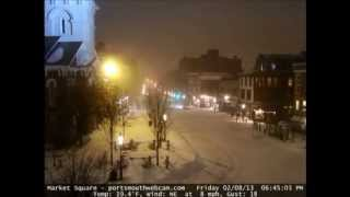 2013 Blizzard 48 Hour Time Lapse Portsmouth NH