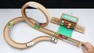 How to Make Hot Wheels Launcher from Cardboard