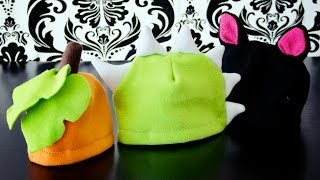 How To Make A Fleece Hat With Horns, Ears, Leaves